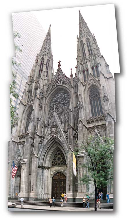 St. Patrick's Cathedral, 50th and Fifth Avenue, New York, September 2003